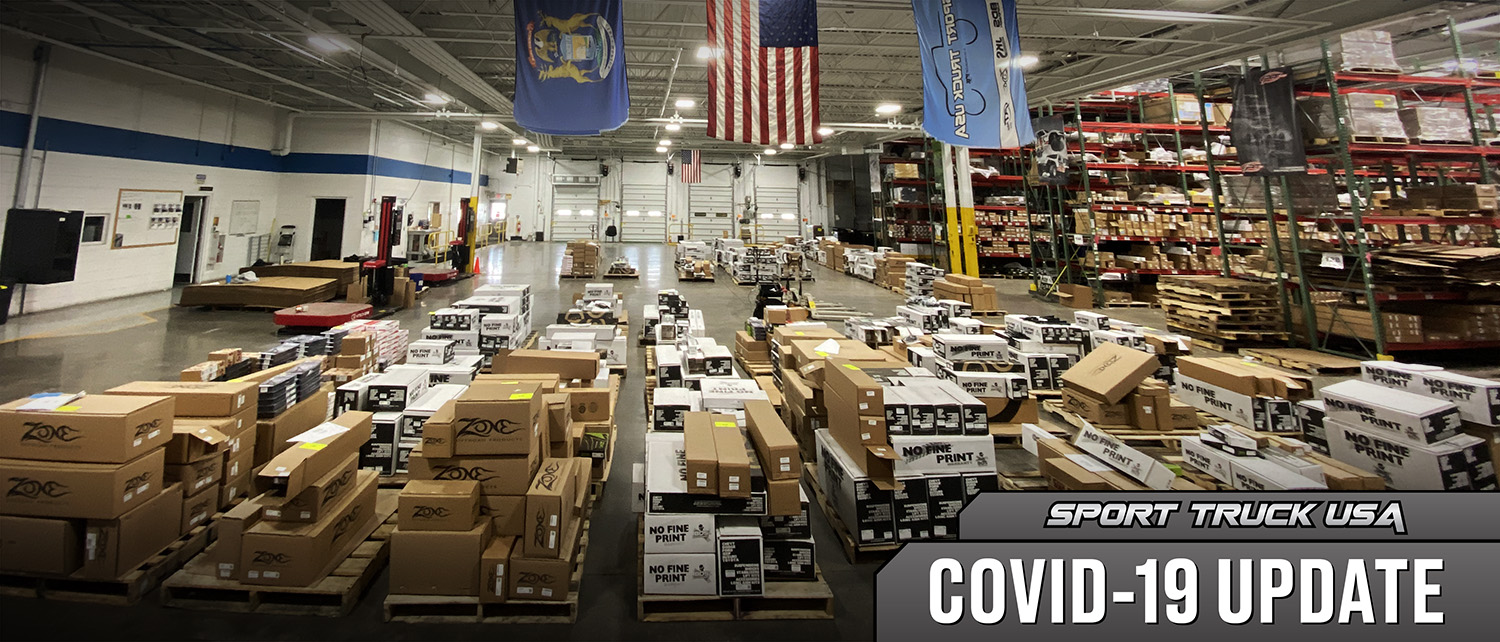 COVID-19 Update: Sport Truck USA Remains Open, Shipping Suspended