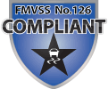 FMVSS No.126 Compliant Badge