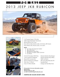 JKS 2013 Jeep JK for sale